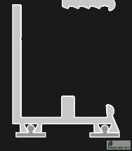 Alsó lezáró profil, 3500mm, NEW 031 005 05