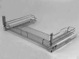 Fémrács 900mm-es elembe, oldalra szerelhető, front rögzítős, teljes kihúzású 1207Y/90-50