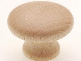 Fogantyú fa gomb F 164-36  Bükk lakkozott
