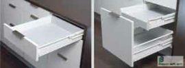 HARN Impaz teljes kihúzású fiókoldal  85 * 400mm Fehér