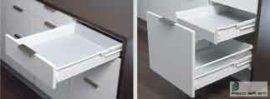 HARN Impaz teljes kihúzású fiókoldal  85 * 500mm Fehér