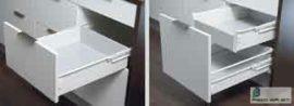 HARN Impaz teljes kihúzású fiókoldal 117 * 450mm Fehér