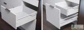 HARN Impaz teljes kihúzású fiókoldal 149 * 400mm Fehér